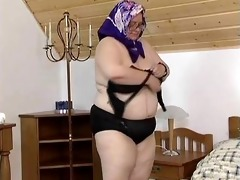 corpulent granny loves to play