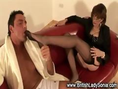 british lady sonia in stockings