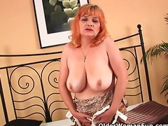 granny with large melons sucks rod and acquires