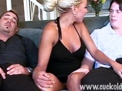 cuckold wife sophia fuck her husbands friend next