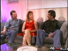 - this fascinating housewife is a bit hesitant at