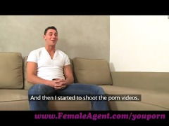 femaleagent. young stud is despairing for work