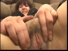 amateur fat aged shows in stocking