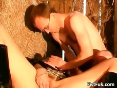 stall sex show with lewd bitch whose part0
