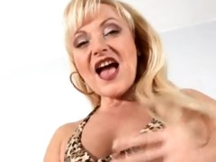 aged aged golden-haired anal bead play