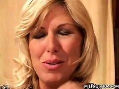 blond mother i debbie stripping