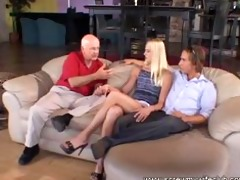 marvelous golden-haired wife drilled and had a