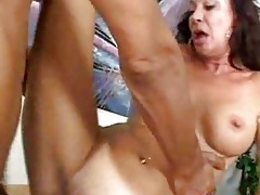 white milf fucks darksome boss interracial aged