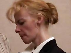 aged blonde wench punished hard