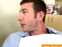 female dentist disrobes a lad