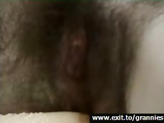 grannie cora, hawt unshaved cum-hole masturbation
