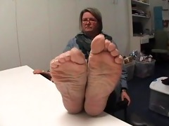 older white foot fetish soles