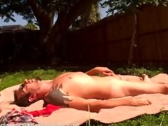 amateur couple garden fuck