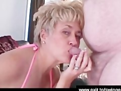 aged swinger party ends with cum enjoyment