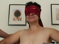 sexy three-some orgy with old whore