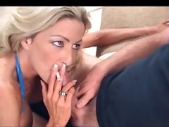 hawt golden-haired cougar smokin bj