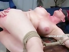 aged redhead acquires her butt stretched