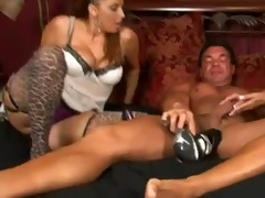 1 aged babes give a stockings footjob