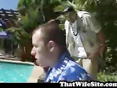big tits screwed by pool side