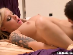 glamcore golden-haired eaten out and drilled