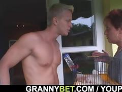 sexy boy screws neighbor granny