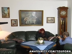 redhead dilettante mother i sucks cock with cum