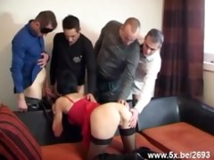 sophie team-fucked by few lads