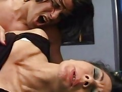 older bushy 6 older women fucked on table