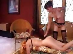 mature lesbo thraldom and flogging