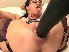 non-professional wife fisted and drilled with a