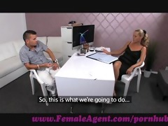 femaleagent. chap struggles to avoid spilling his