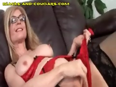 blonde cougars sucks giant darksome tool