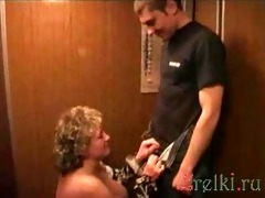 blowjob in the elevator