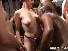 large fuckfest with tiny overweight and aged woman