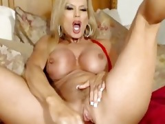 large tits milf pounds her pussy with vibrator hd
