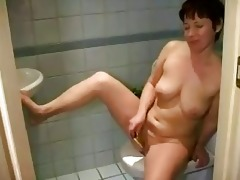 rehead breasty older masturbating hairless wet