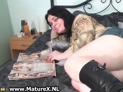 lascivious aged housewife showing her large part7