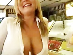 golden-haired flashing in public