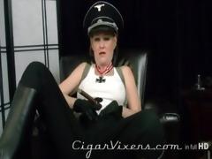 kristyna darksome smokes a cigar