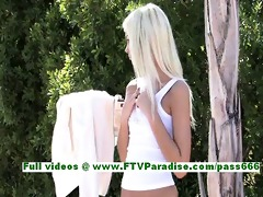 franziska hawt blond woman public flashing