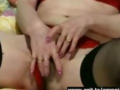 unshaved granny nance fingering the one and the