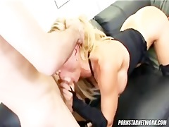 breasty blond boss amber lynn acquires screwed by