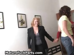excited chunky and sexy aged bitches engulf rod
