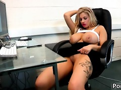 blond office whore with giant whoppers t live