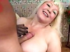 golden-haired breasty older with young boy