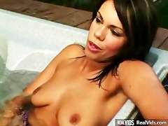 excited babes working a dick