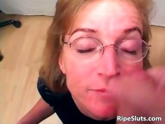 lustful aged whore acquires face hole and moist