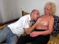 sexy youthful boy fucking granny with strap-on