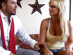 hot blond wife with large tits getting her bawdy