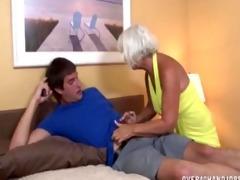 granny jerking the juvenile boy